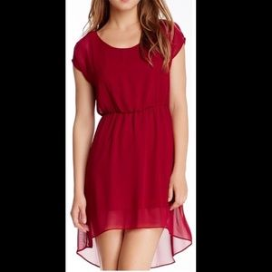 Soprano Dresses - Red, Raspberry High-Low Dress. Medium/Small